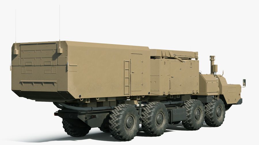 Desert Flap Lid B S300 Missile Guidance Radar Rigged royalty-free 3d model - Preview no. 7