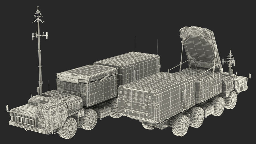 Desert Flap Lid B S300 Missile Guidance Radar Rigged royalty-free 3d model - Preview no. 47