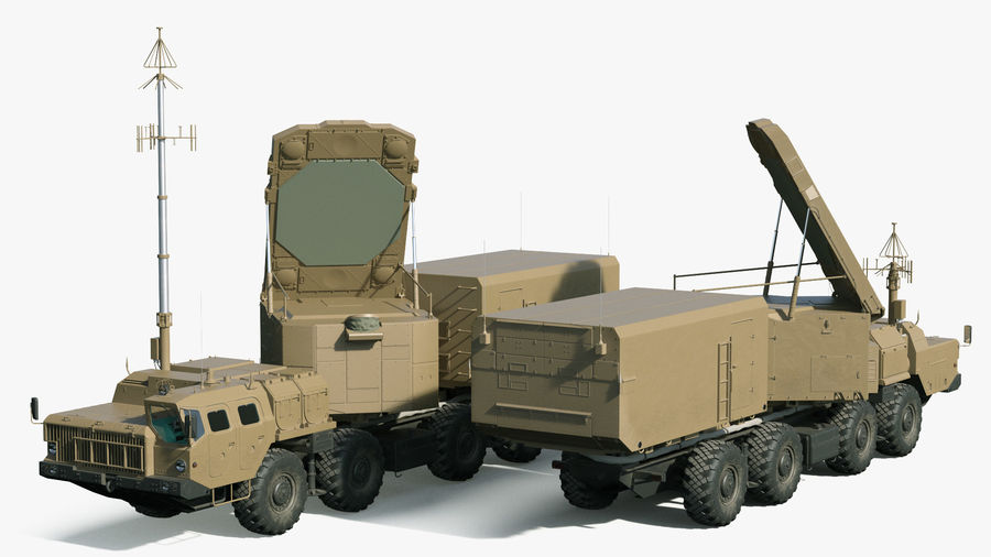Desert Flap Lid B S300 Missile Guidance Radar Rigged royalty-free 3d model - Preview no. 8