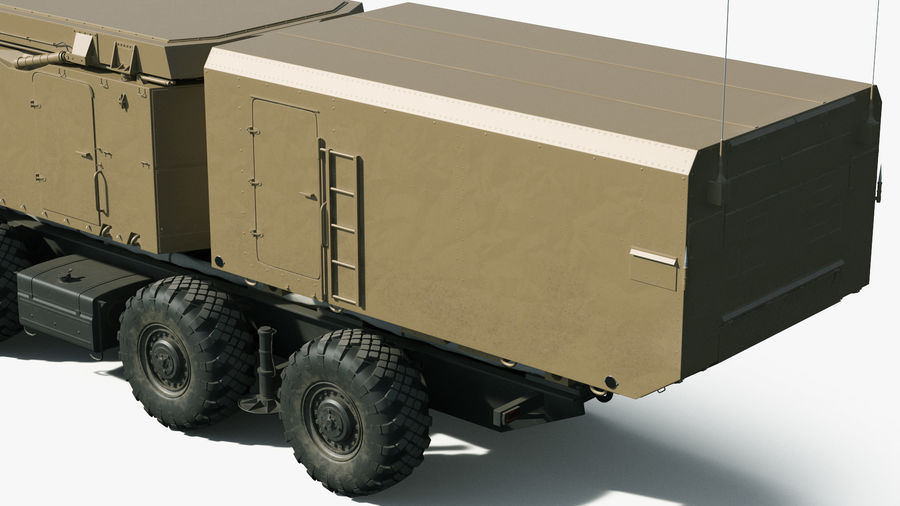 Desert Flap Lid B S300 Missile Guidance Radar Rigged royalty-free 3d model - Preview no. 13