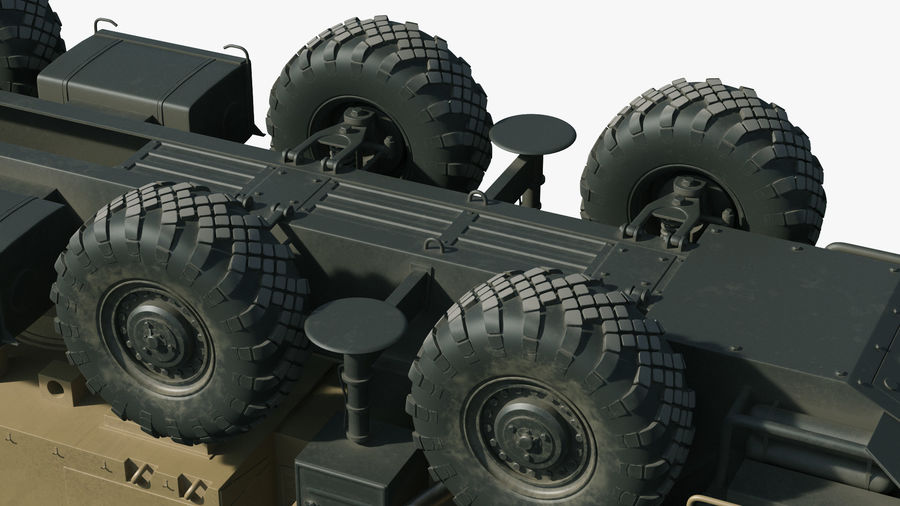 Desert Flap Lid B S300 Missile Guidance Radar Rigged royalty-free 3d model - Preview no. 32