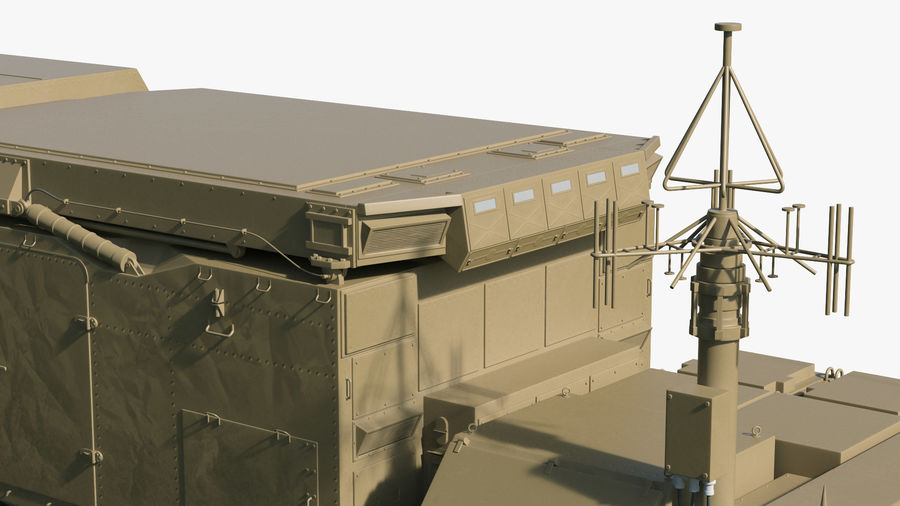 Desert Flap Lid B S300 Missile Guidance Radar Rigged royalty-free 3d model - Preview no. 25