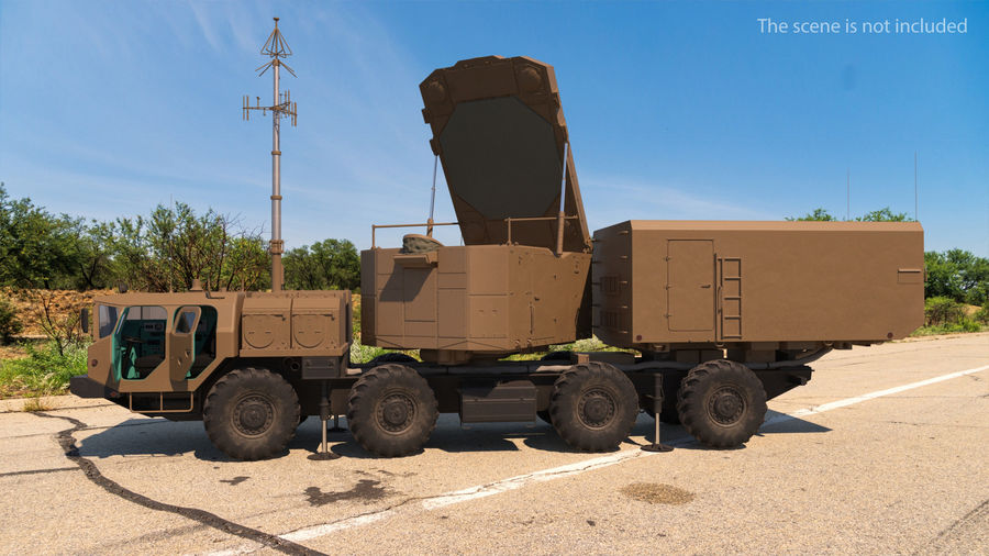 Desert Flap Lid B S300 Missile Guidance Radar Rigged royalty-free 3d model - Preview no. 3