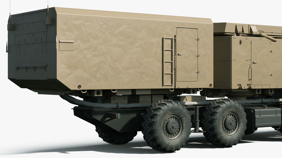 Desert Flap Lid B S300 Missile Guidance Radar Rigged royalty-free 3d model - Preview no. 12