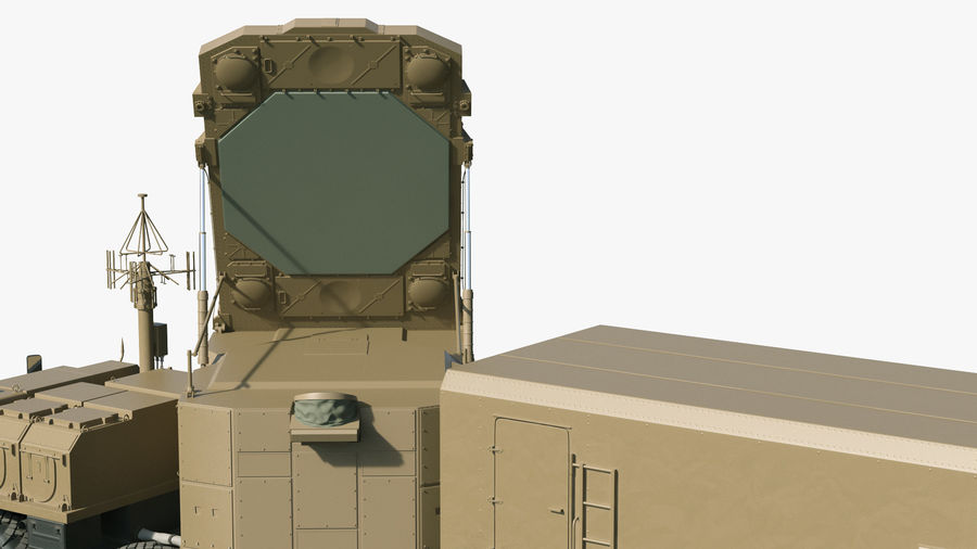 Desert Flap Lid B S300 Missile Guidance Radar Rigged royalty-free 3d model - Preview no. 16