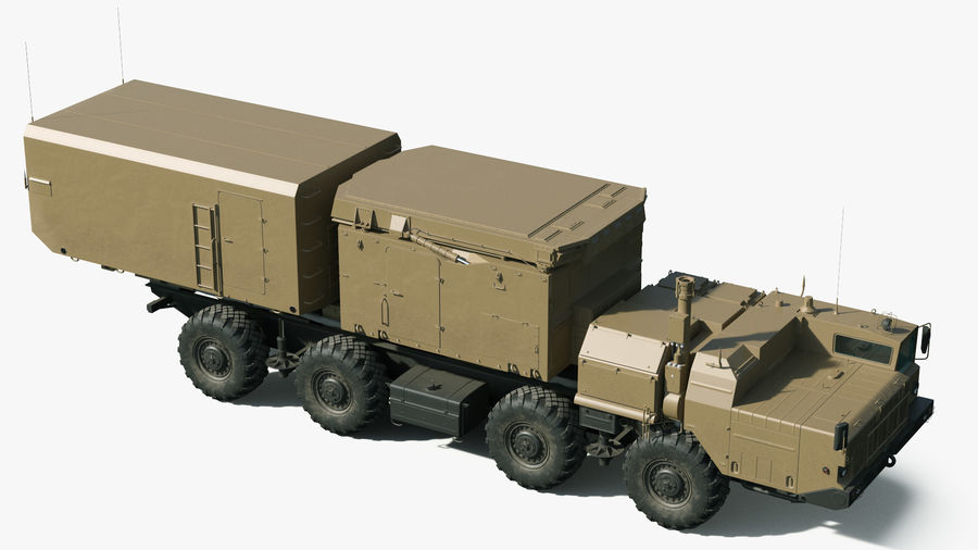 Desert Flap Lid B S300 Missile Guidance Radar Rigged royalty-free 3d model - Preview no. 9