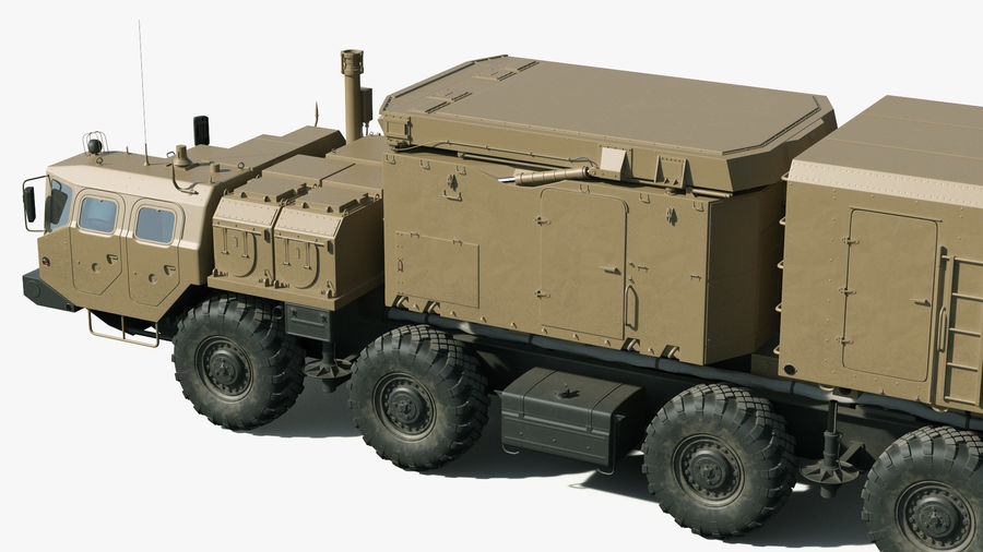 Desert Flap Lid B S300 Missile Guidance Radar Rigged royalty-free 3d model - Preview no. 11