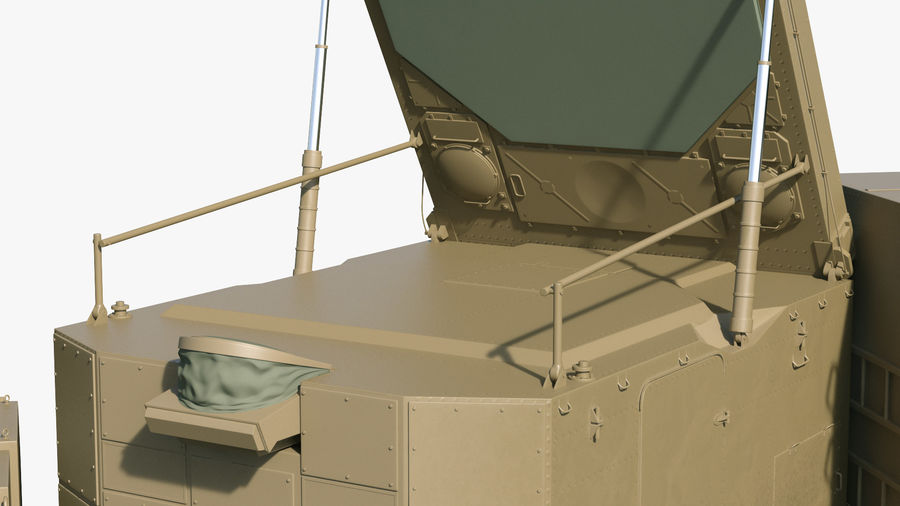 Desert Flap Lid B S300 Missile Guidance Radar Rigged royalty-free 3d model - Preview no. 17