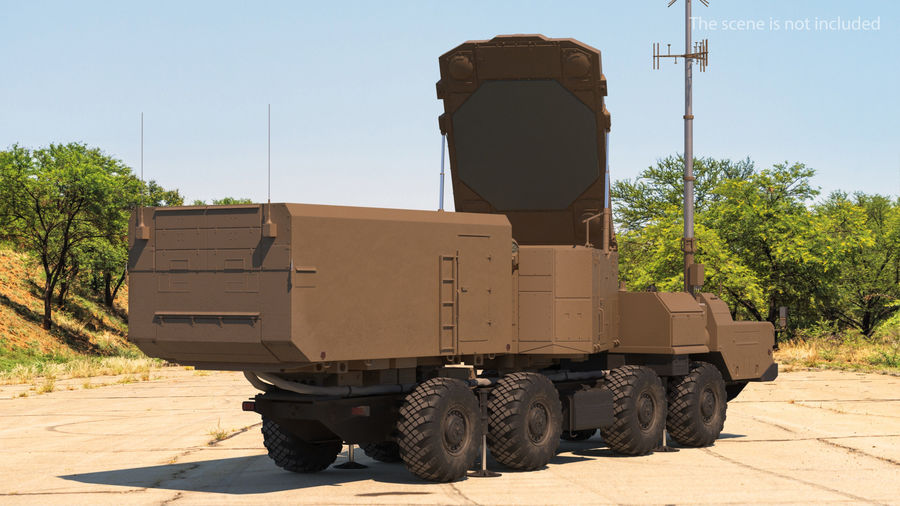 Desert Flap Lid B S300 Missile Guidance Radar Rigged royalty-free 3d model - Preview no. 5