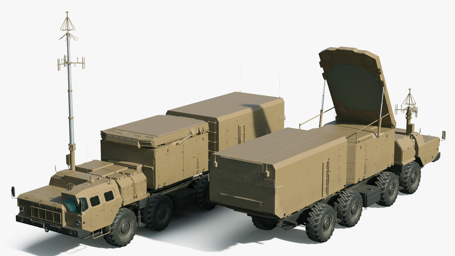 Desert Flap Lid B S300 Missile Guidance Radar Rigged royalty-free 3d model - Preview no. 6
