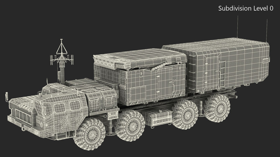Desert Flap Lid B S300 Missile Guidance Radar Rigged royalty-free 3d model - Preview no. 34