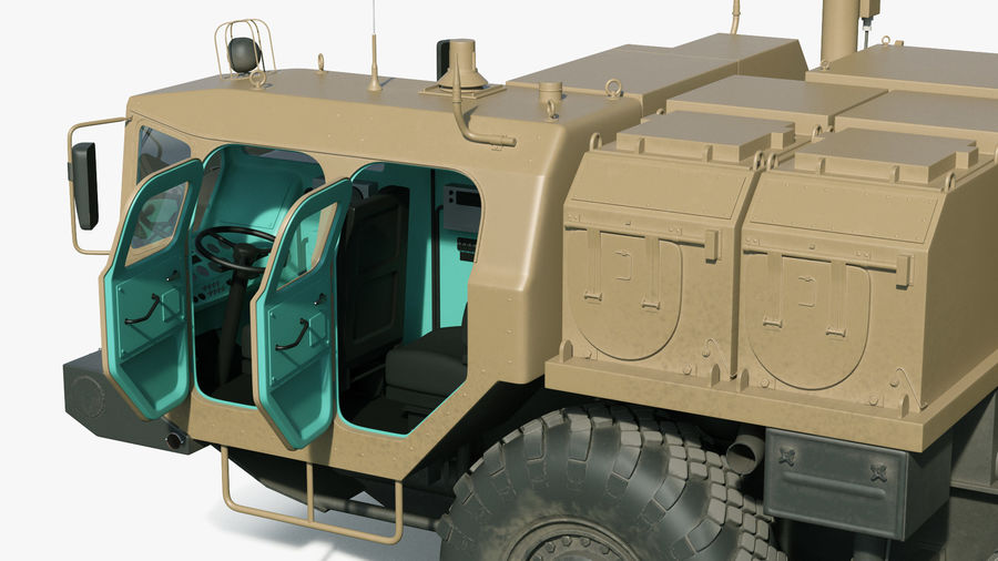 Desert Flap Lid B S300 Missile Guidance Radar Rigged royalty-free 3d model - Preview no. 20