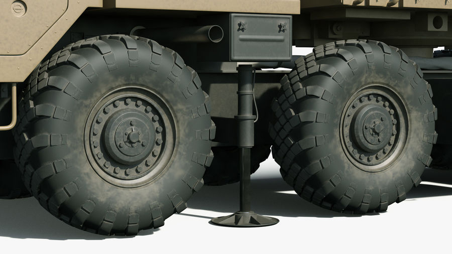 Desert Flap Lid B S300 Missile Guidance Radar Rigged royalty-free 3d model - Preview no. 30