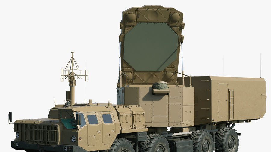 Desert Flap Lid B S300 Missile Guidance Radar Rigged royalty-free 3d model - Preview no. 14
