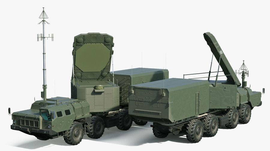 Flap Lid B S300 Missile Guidance Radar Rigged royalty-free 3d model - Preview no. 6