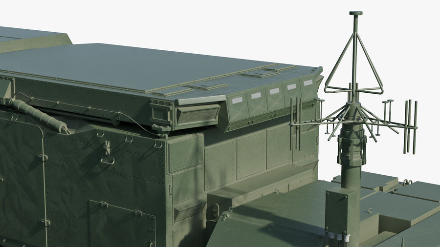 Flap Lid B S300 Missile Guidance Radar Rigged royalty-free 3d model - Preview no. 28
