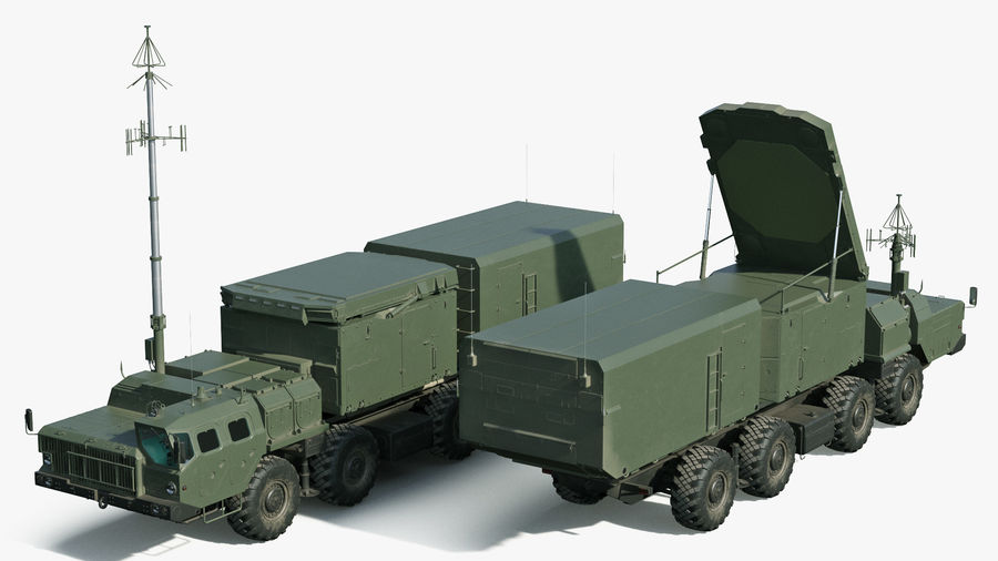 Flap Lid B S300 Missile Guidance Radar Rigged royalty-free 3d model - Preview no. 9