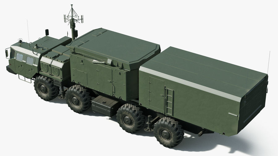 Flap Lid B S300 Missile Guidance Radar Rigged royalty-free 3d model - Preview no. 10