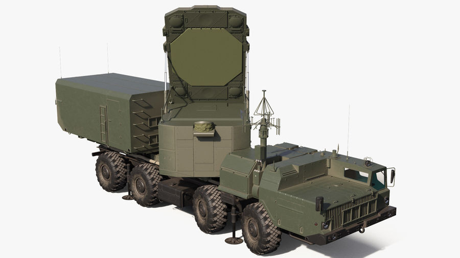 Flap Lid B S300 Missile Guidance Radar Rigged royalty-free 3d model - Preview no. 2