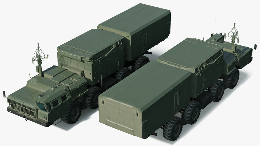 Flap Lid B S300 Missile Guidance Radar Rigged royalty-free 3d model - Preview no. 8