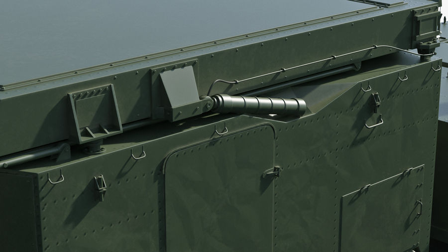 Flap Lid B S300 Missile Guidance Radar Rigged royalty-free 3d model - Preview no. 26
