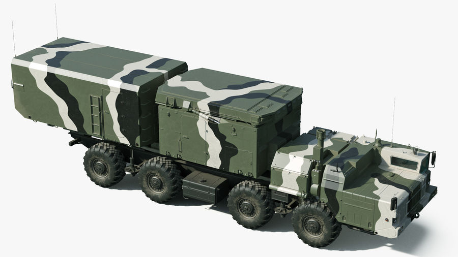 S300 Flap Lid B Camouflage Rigged royalty-free 3d model - Preview no. 9