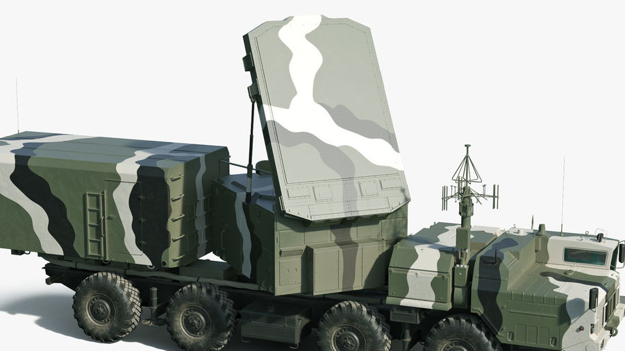 S300 Flap Lid B Camouflage Rigged royalty-free 3d model - Preview no. 13