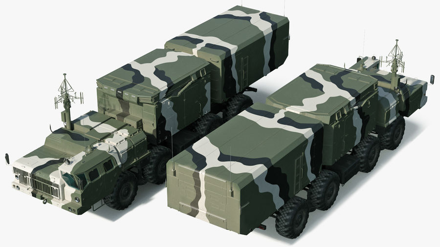 S300 Flap Lid B Camouflage Rigged royalty-free 3d model - Preview no. 8