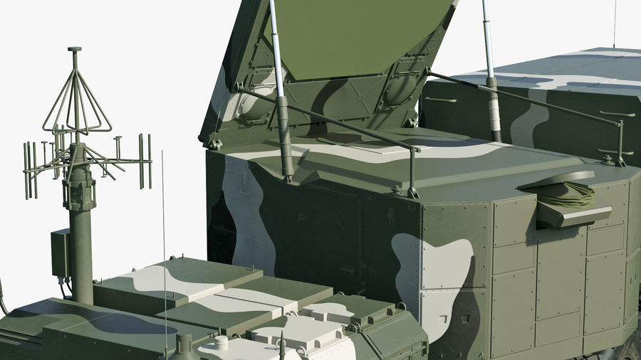 S300 Flap Lid B Camouflage Rigged royalty-free 3d model - Preview no. 17