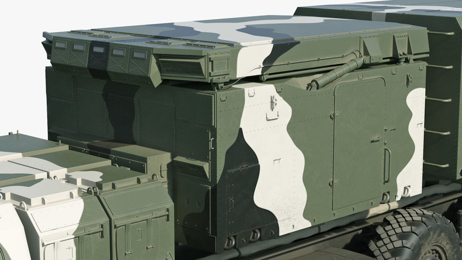 S300 Flap Lid B Camouflage Rigged royalty-free 3d model - Preview no. 31