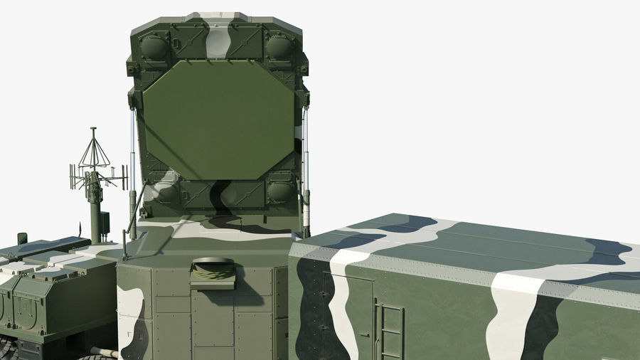 S300 Flap Lid B Camouflage Rigged royalty-free 3d model - Preview no. 14