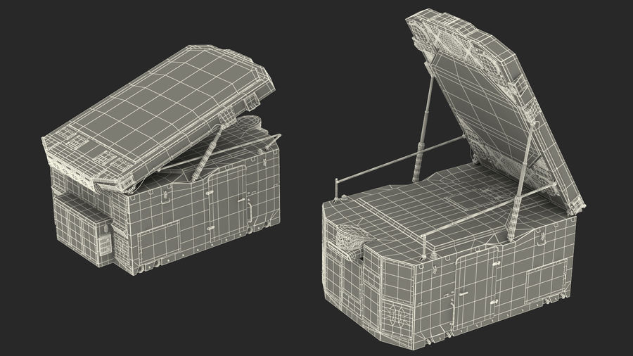 S300 Flap Lid B Missile Guidance Radar Rigged royalty-free 3d model - Preview no. 34