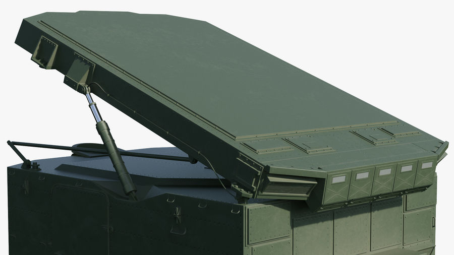 S300 Flap Lid B Missile Guidance Radar Rigged royalty-free 3d model - Preview no. 26