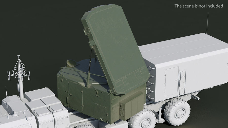 S300 Flap Lid B Missile Guidance Radar Rigged royalty-free 3d model - Preview no. 3