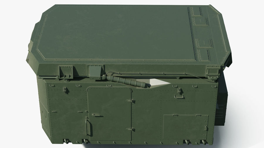 S300 Flap Lid B Missile Guidance Radar Rigged royalty-free 3d model - Preview no. 15