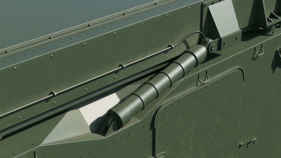 S300 Flap Lid B Missile Guidance Radar Rigged royalty-free 3d model - Preview no. 20