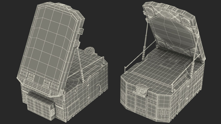 S300 Flap Lid B Missile Guidance Radar Rigged royalty-free 3d model - Preview no. 35