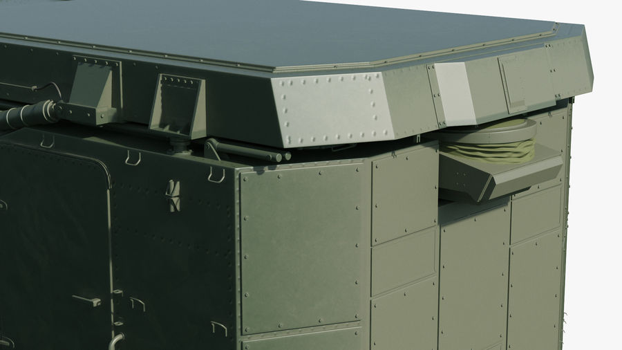 S300 Flap Lid B Missile Guidance Radar Rigged royalty-free 3d model - Preview no. 16