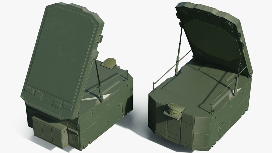 S300 Flap Lid B Missile Guidance Radar Rigged royalty-free 3d model - Preview no. 9