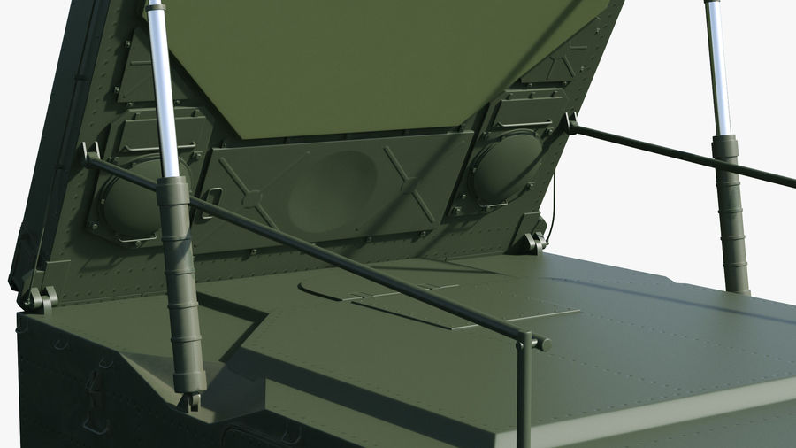 S300 Flap Lid B Missile Guidance Radar Rigged royalty-free 3d model - Preview no. 23