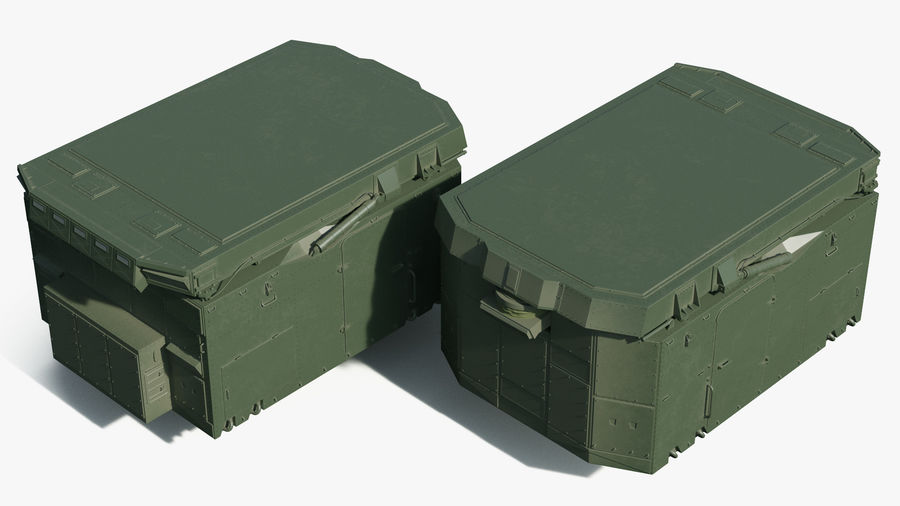 S300 Flap Lid B Missile Guidance Radar Rigged royalty-free 3d model - Preview no. 8
