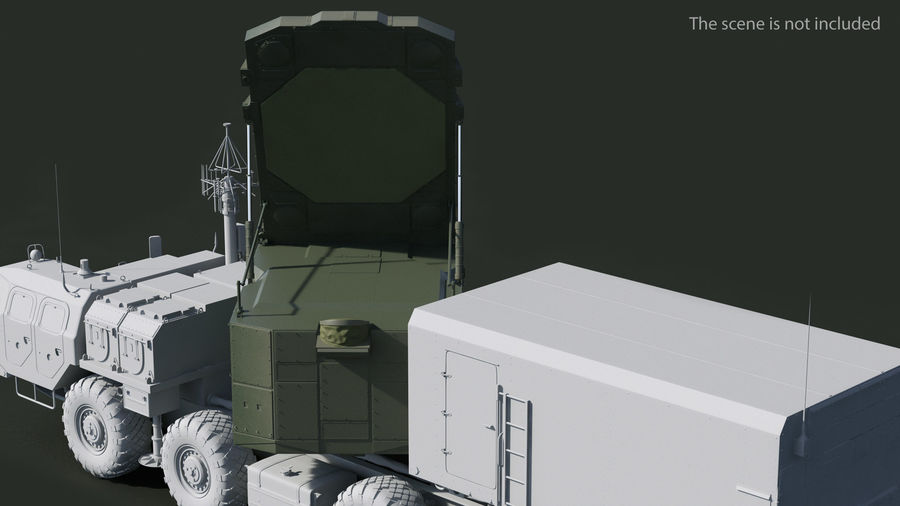 S300 Flap Lid B Missile Guidance Radar Rigged royalty-free 3d model - Preview no. 4