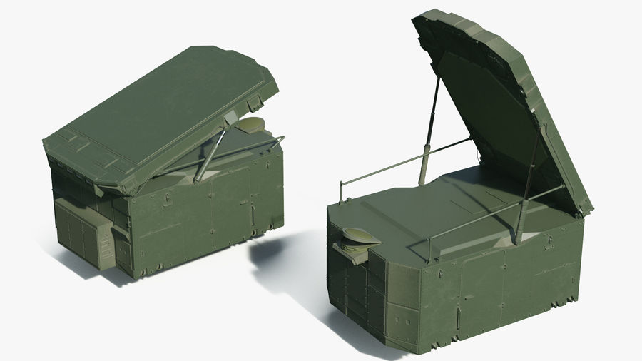 S300 Flap Lid B Missile Guidance Radar Rigged royalty-free 3d model - Preview no. 7