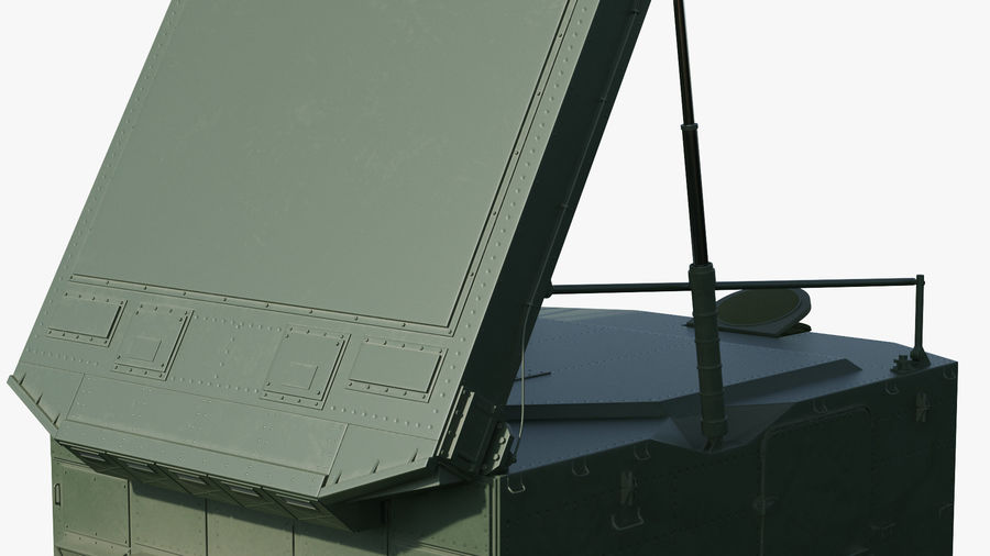 S300 Flap Lid B Missile Guidance Radar Rigged royalty-free 3d model - Preview no. 22