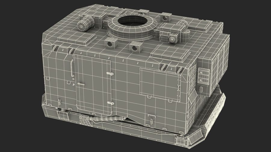 S300 Flap Lid B Missile Guidance Radar Rigged royalty-free 3d model - Preview no. 43