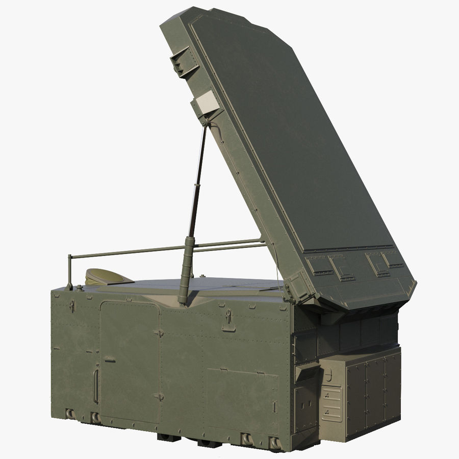 S300 Flap Lid B Missile Guidance Radar Rigged royalty-free 3d model - Preview no. 1