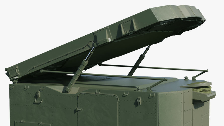 S300 Flap Lid B Missile Guidance Radar Rigged royalty-free 3d model - Preview no. 25