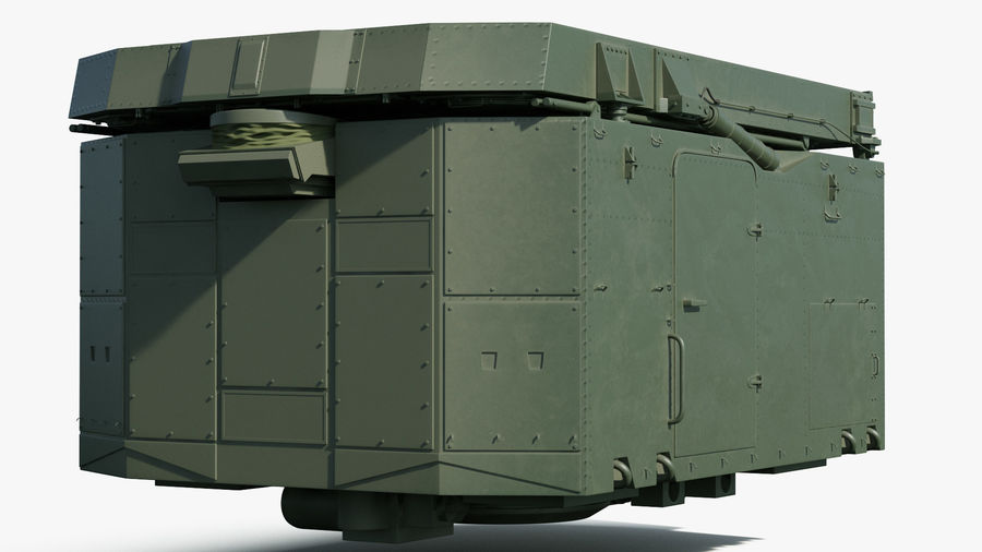 S300 Flap Lid B Missile Guidance Radar Rigged royalty-free 3d model - Preview no. 13