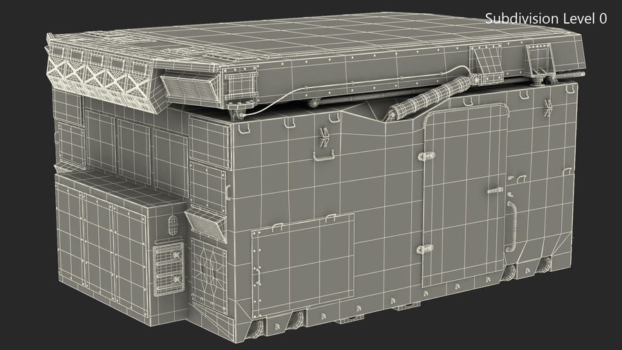 S300 Flap Lid B Missile Guidance Radar Rigged royalty-free 3d model - Preview no. 29