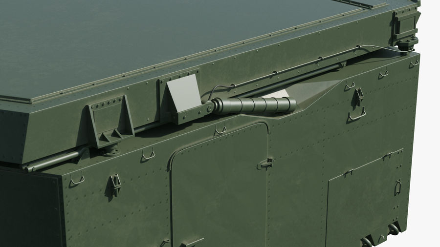 S300 Flap Lid B Missile Guidance Radar Rigged royalty-free 3d model - Preview no. 19